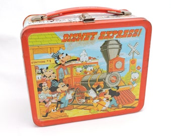 Vintage 1970's Disney Express Metal Lunchbox by Aladdin - Disney Characters