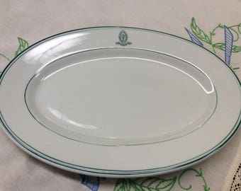 Shenango China Farmhouse Platter St Mary's School & Junior College Vintage