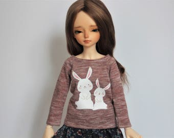 Long sleeve T-shirt with print for Minifee girls