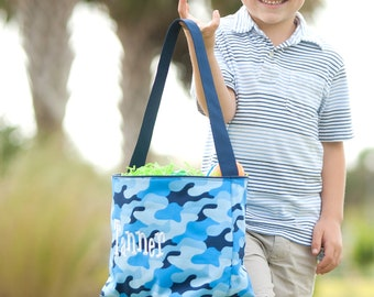 Personalized Easter Basket, Boys Easter bucket, boys chevron Easter basket