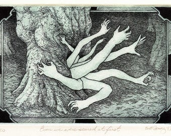 Even We Were Scared At First  - Original Intaglio Print