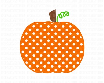 Polka-Dot Pumpkin SVG, Pumpkin SVG, Fall SVG, Thanksgiving Svg, Halloween Svg, Svg Files, Cricut Cut Files, Silhouette Cut Files