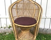 Vintage Chair Modern Rattan Mid Century Chair Bohemian Home Decor