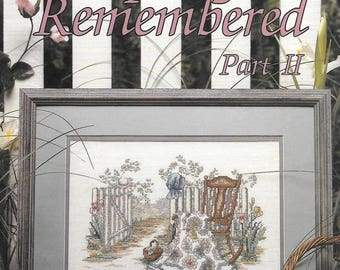 Spring Remembered Part II Cross Stitch Pattern Book 41 by Paula Vaughan, Grandmothers Flower Garden Quilt, 1991 Leisure Arts Leaflet 2048