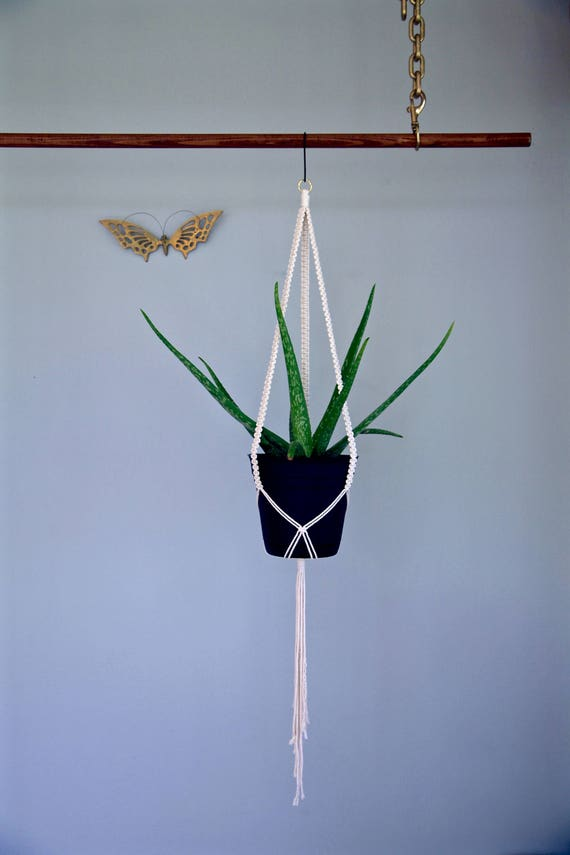 "Macrame Plant Hanger - 40"" Knotted"