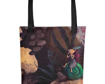 Woodland fairy piper and friends tote bag