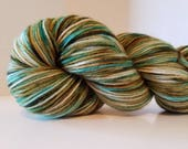Hand Dyed Cashmere, Merino, Nylon fingering weight yarn, 435yds, 100g Sock yarn