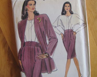 Uncut Vogue Sewing Pattern 7837 - Misses Jacket and Dress - Size 14-18