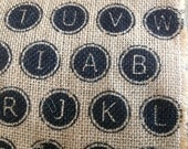 Type Writer Print Burlap So cool I couldn't pass this Remnant up Small Piece but Just Enough For a Cool Project