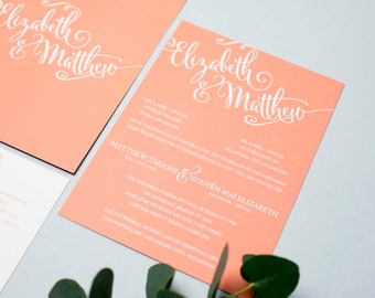 sample bilingual vietnamese wedding invitation set script font invitation reception and rsvp - Vietnamese Wedding Invitation