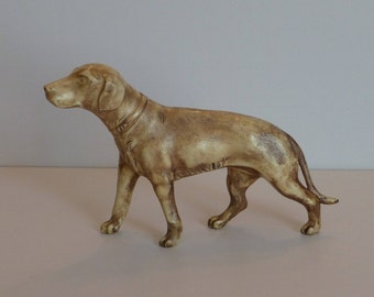 Vintage Celluloid Dog, English Pointer, Japan Ca. 1940 - 1950, Intricate Detailing, Mint !