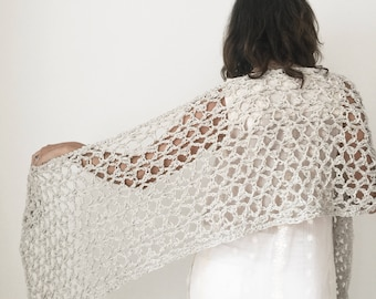 CROCHET PATTERN Shawl Scarf Or Wrap Pattern Lace Summer Shawl Cotton Scarf Pattern The ENLIVEN