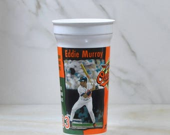 Very nice plastic drinking cup featuring Baltimore Oriels Eddie Murray's #33 career ranking as of 8/20/1996