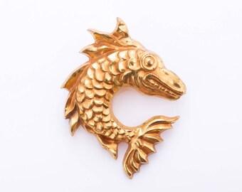 Vintage Arthus Bertrand Paris Art Deco Fish Brooch