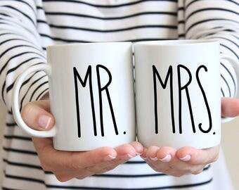 Couple Gift, Mr and Mrs Mugs, Engagement Gift, Couples Mugs, Newlywed Gift, Coffee Mug, Mugs, Wedding Gift, Bride Gift, Bridal Shower Gift