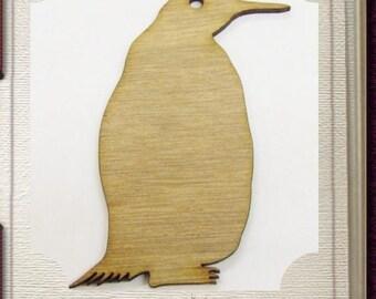 Penguin Ornament - Laser Cut Wood