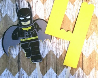 Lego Batman Cake Topper - Lego Batman Birthday - Lego Batman Party Decorations - Lego Party - Lego Decorations - Batman Party