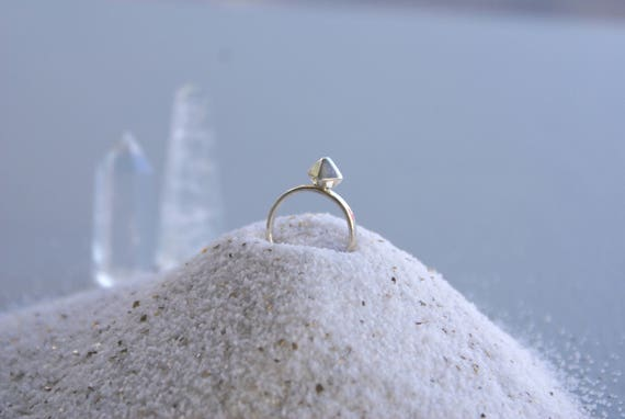 Silver Octahedron ring
