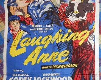 vintage movie poster laughing Anne  1954