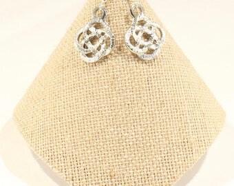 Silver Earrings Whimsical Earrings  Silver Filagree Earrings Ladies Gift Best Friend Co-Worker Christmas Birthday Gift