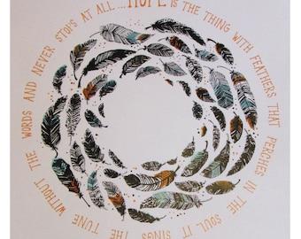 Hope Feathers screen print