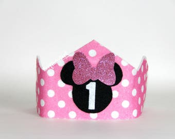 Minnie Mouse inspired 1st Birthday Crown // Minnie Crown // 1st Birthday Crown // READY to SHIP // by Born TuTu Rock