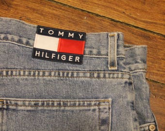 Tommy Jeans 36x34 like new condition vintage Tommy Hilfiger light wash mens denim streetwear
