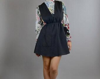 Denim dress, black dress, black denim dress, pinafore dress, black dress, black denim dress, short dress, dress Romina