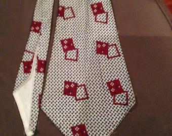 Vintage 1940s Mens Geometric Shape Necktie