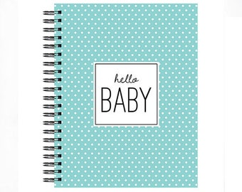 Hello Baby™ Baby book, Baby Memory  Book, Personalized Baby Book,  Baby Books, The Sweet Rhino