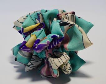 Vintage Silk  Kimono Scrunchie