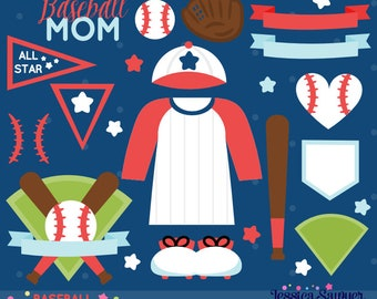 INSTANT DOWNLOAD, baseball clipart for personal and commercial use