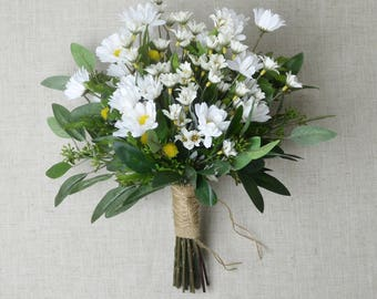 Daisy Bouquet Wedding Wildflower Flowers Bridal White