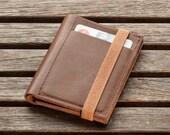 Brown Leather Wallet, Mens Wallet, Leather Wallet, Mens Billfold Wallet