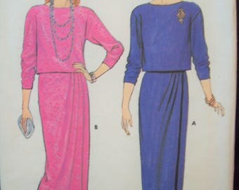 Pullover Top and Mock Wrap Skirt in Two Lengths 1980s Butterick Pattern 6946 Uncut Sizes 12-14-16