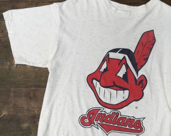 Cleveland Indians Mascot Head Tee