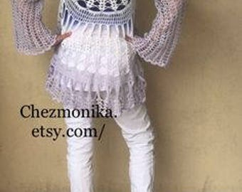 Sweater - hand crocheted vest