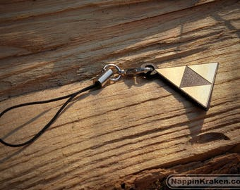 Triforce Phone Charm Keychain The Legend of Zelda