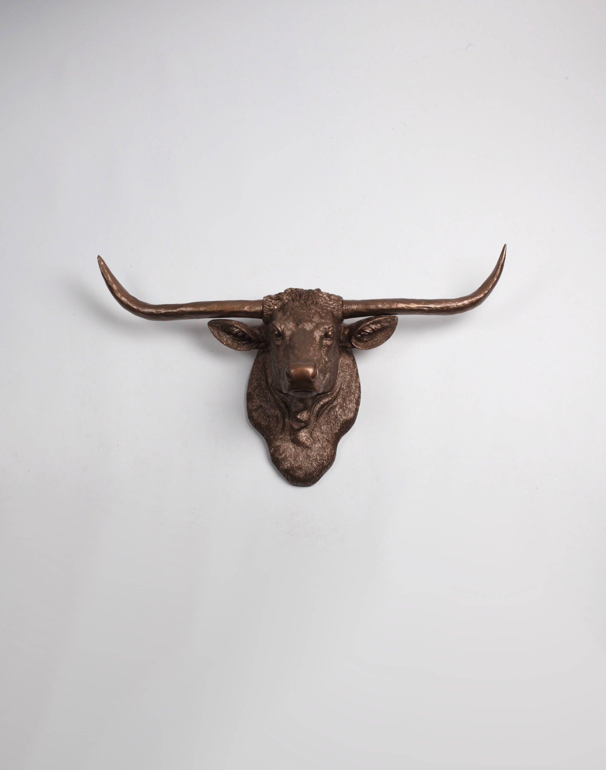 Texas Longhorn Decor The Remington Cow Head Wall Mount