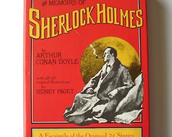 The Complete Adventures and Memoirs of Sherlock Holmes by Arthur Conan Doyle, 1975, hardcover with dust jacket