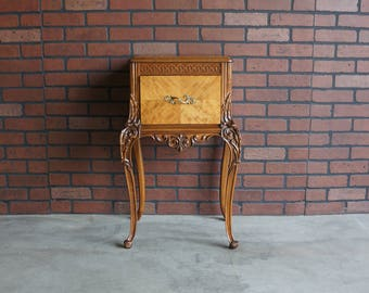 Antique Nightstand / French Bedside Table  / Vintage Nightstand / French Provincial Nightstand