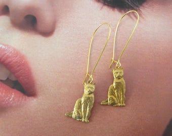 Golden Cat earring