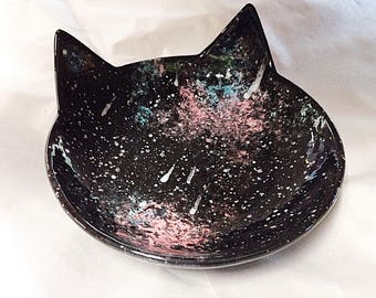Cosmic Cat Dish for a Witch's Familar