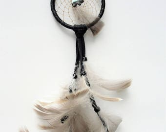 BLACK DREAM CATCHER Black and Gray Dream Catcher Zuni Bear Dream Catcher
