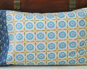 Organic Pillowcase, Organic Standard Pillowcase Handmade, Pillow Cases, Custom Pillowcase: Anya, Floral Pillowcase, Pillowcases Floral