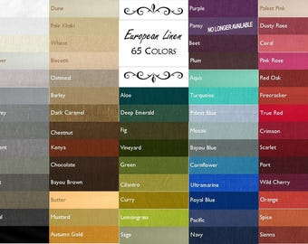 Custom Belgian Linen Tablecloth//USA Made//65 Colors