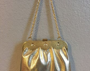Shiny Gold Purse - 1970s