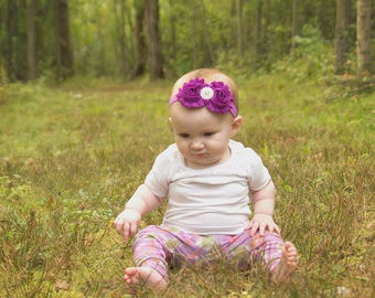 Baby Headband, Plum Headband, Purple Headband, Infant Headband, Newborn Headband, Plum Baby Headband,Headband, Fuchsia