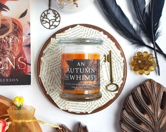 An Autumn in Whimsy // An Enchantment of Ravens 8oz Jar Scented Soy Candle