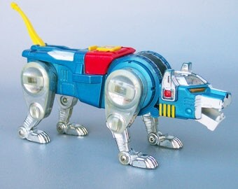 Vintage 1981 Voltron Blue Cat Die Cast Metal Figure